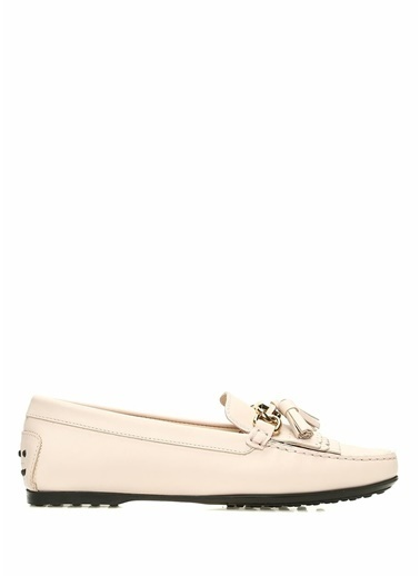 Tod's Deri Loafer Ayakkabı Pudra